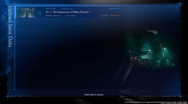 Imagen de Final Fantasy VII Remake ya permite transferir partidas guardadas de PS4 a PS5