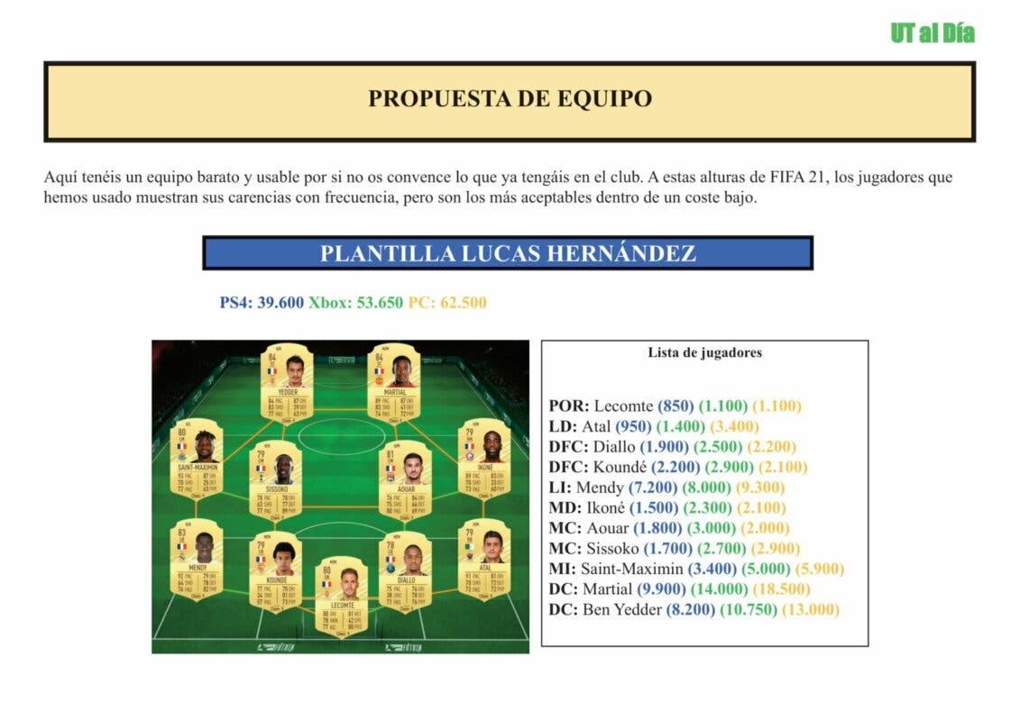 FIFA 21 Ultimate Team Guía Lucas Hernández Festival of FUTball FOF