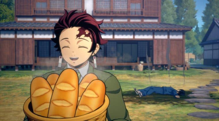 Imagen de Kimetsu no Yaiba – The Hinokami Chronicles muestra el gameplay de Tanjiro, Nezuko y Tomioka de Kimetsu Gakuen