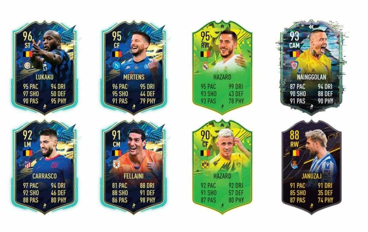 FIFA 21 Ultimate Team. Links naranjas de Batshuayi Jugador de Nación.