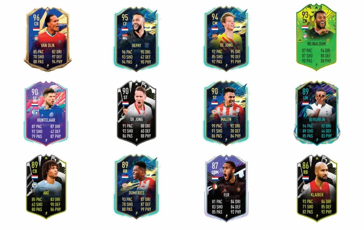 Links naranjas de Hateboer Jugador de Nación. FIFA 21 Ultimate Team