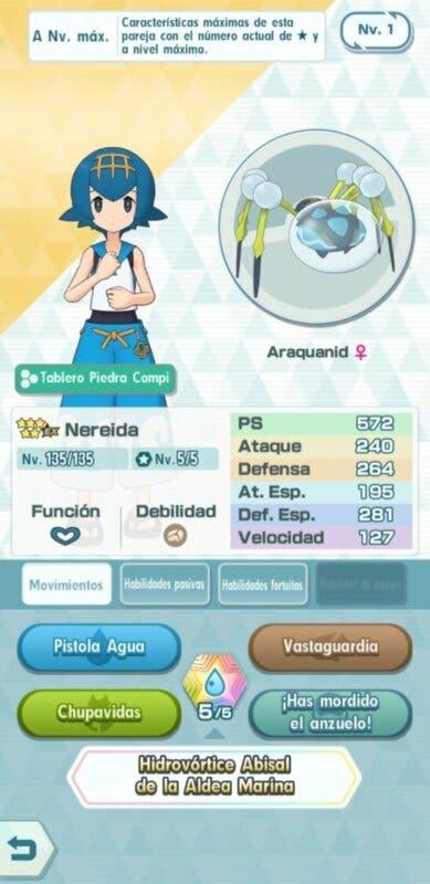 Nereida y Araquanid Pokemon Masters EX