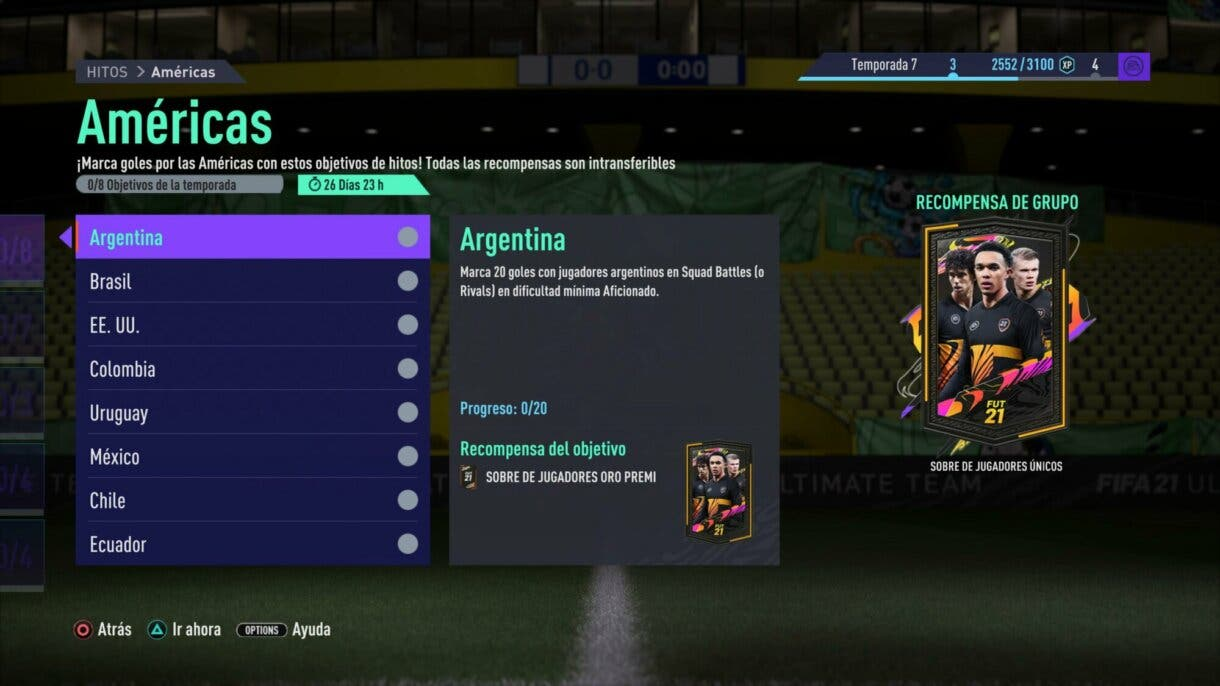 FIFA 21: llega una nueva tanda de sobres gratuitos a Ultimate Team Américas y Asia