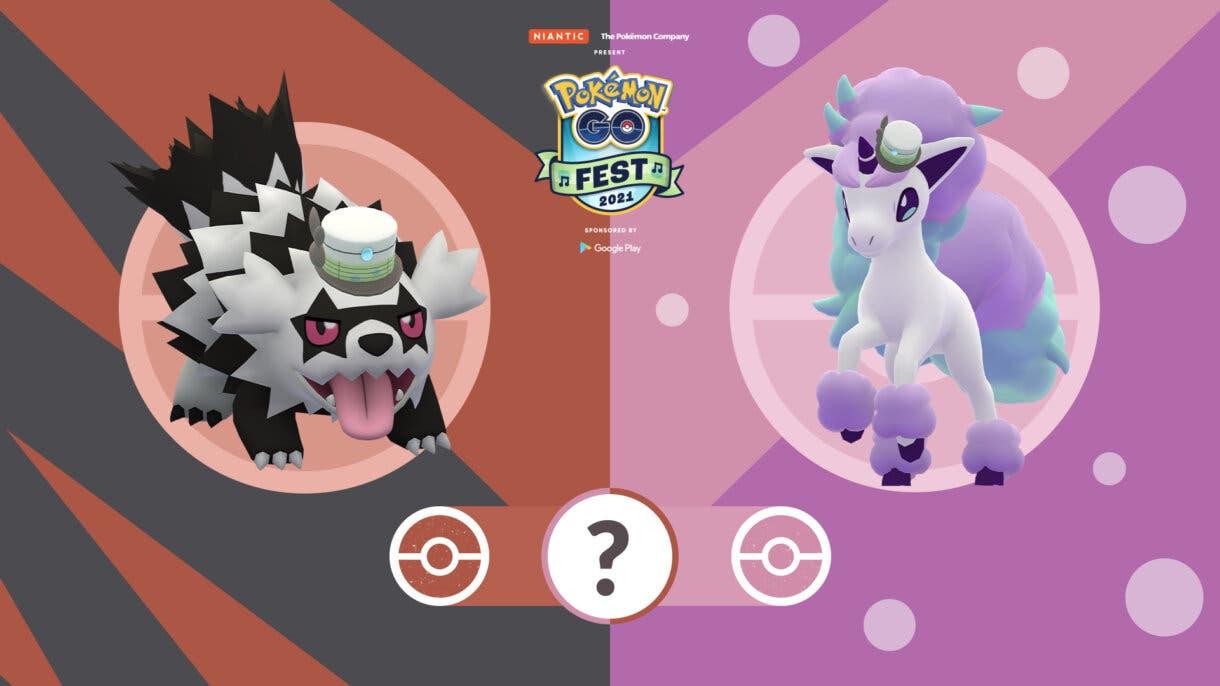 Pokemon GO Fest 2021 Formas de Galar Zigzagoon Ponyta