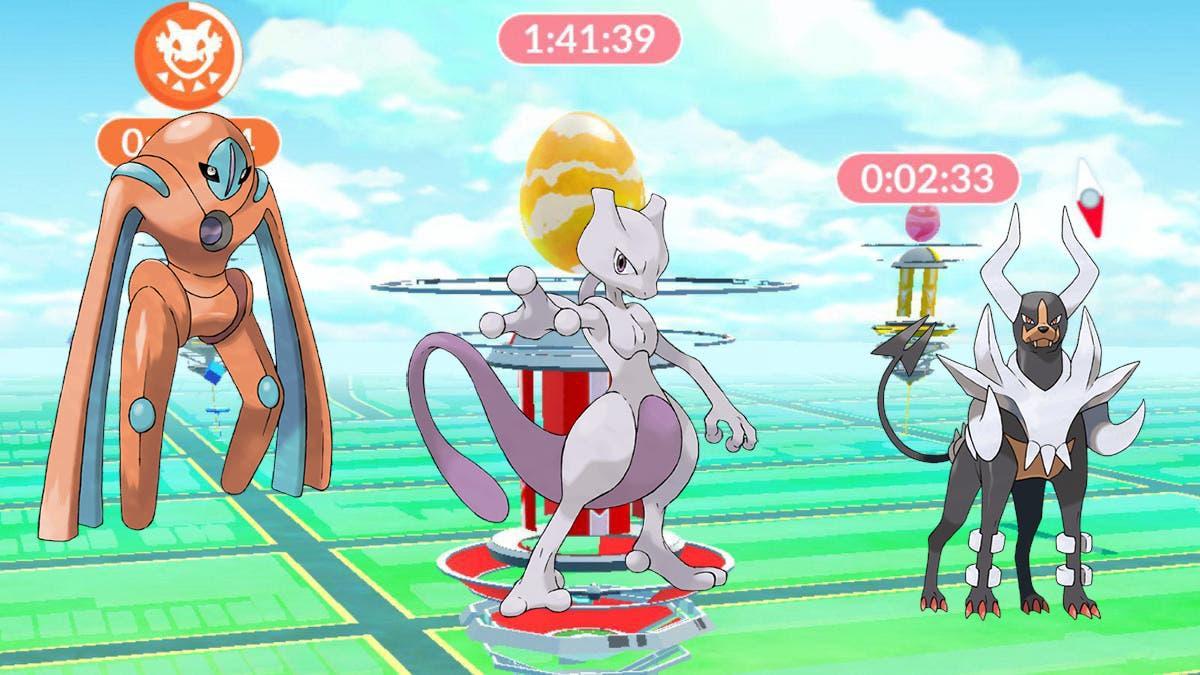 Pokemon GO incursiones Mewtwo Deoxys Mega-Houndoom