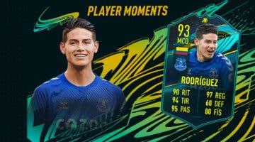 Imagen de FIFA 21: ¿Merece la pena James Rodríguez Moments? + Solución del SBC