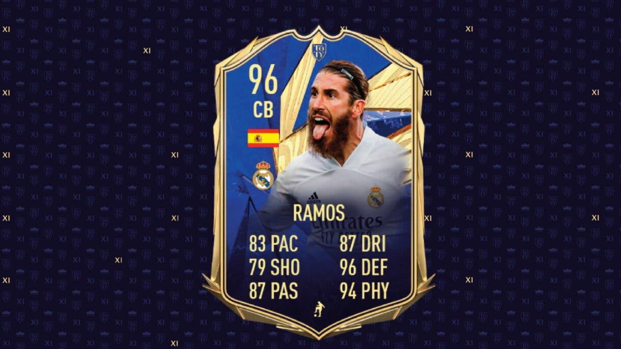 FIFA 21 Ultimate Team Sergio Ramos TOTY.