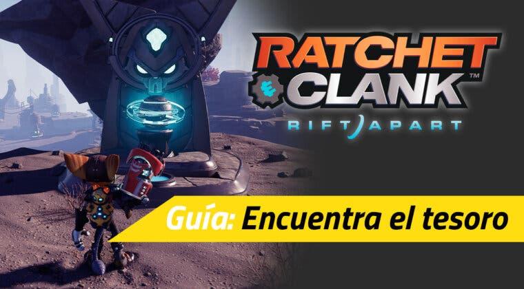 """Imagen de Cómo conseguir el valioso mapamatic en la misión """"Encuentra el tesoro"""" de Ratchet & Clank: Una Dimensión Aparte"""