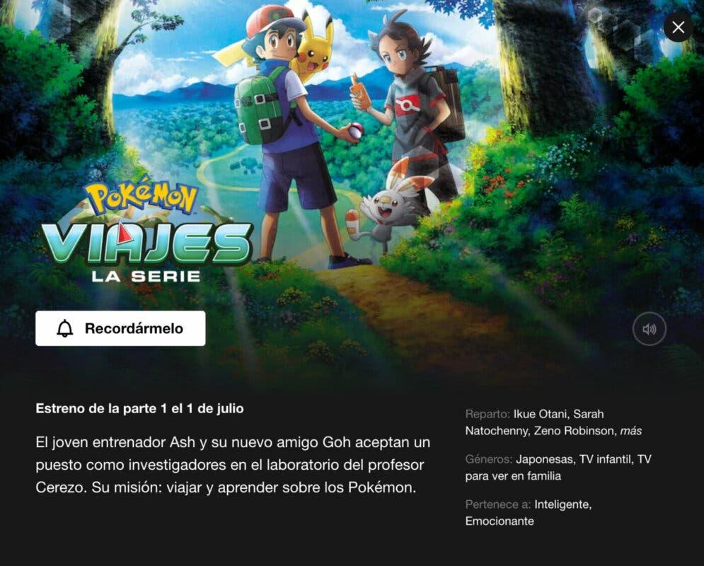 Viajes Pokemon Netflix España