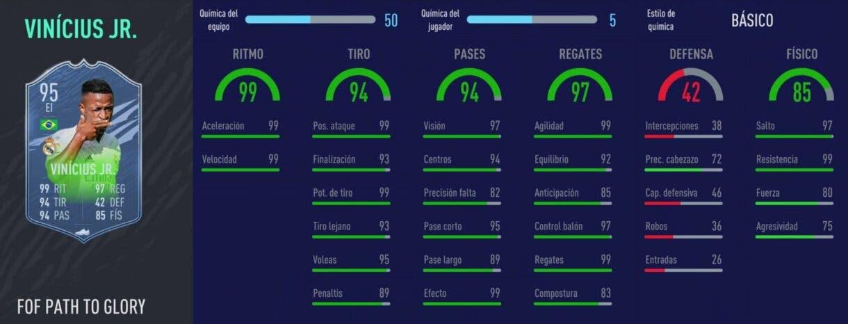 FIFA 21 Ultimate Team. Festival of FUTball actualizados. Stats in game de Vinícius