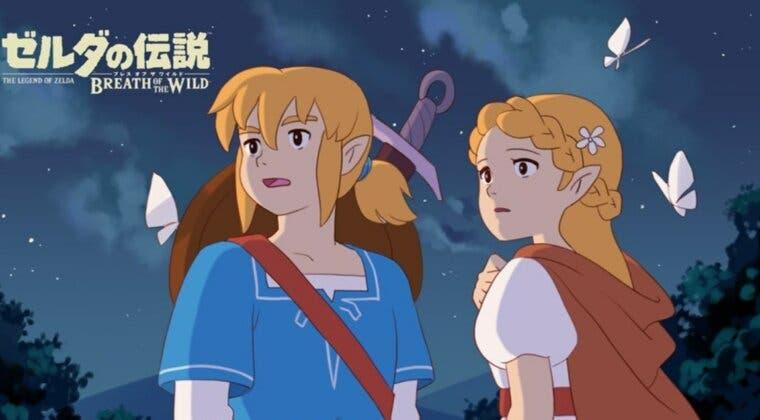 Imagen de Un artista imagina una película de Zelda: Breath of the Wild por Studio Ghibli y este es el resultado