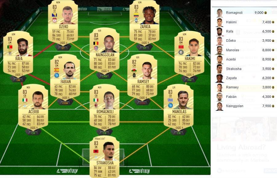 FIFA 21 Ultimate Team SBC Larsen Jugador de Nación FOF Dinamarca
