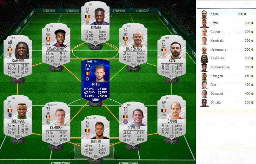 FIFA 21 Ultimate Team SBC Elección jugador FUTTIES Alta tensión