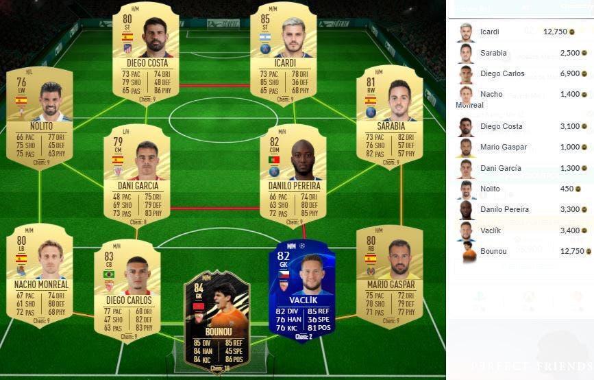 FIFA 21 Ultimate Team SBC Koke FUTTIES