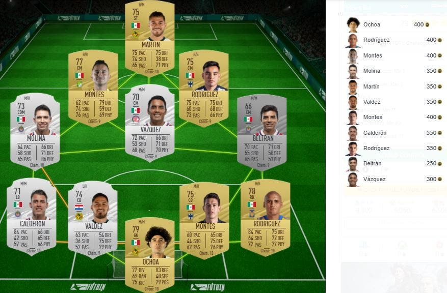 FIFA 21 Ultimate Team SBC Mejora 88+ x5 Desafío TOTY