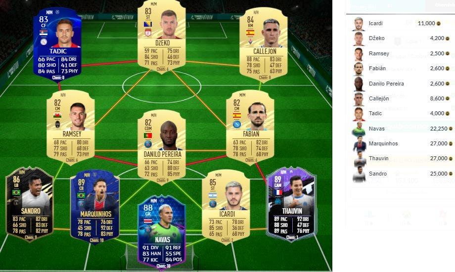 FIFA 21 Ultimate Team SBC Marquinhos FUTTIES