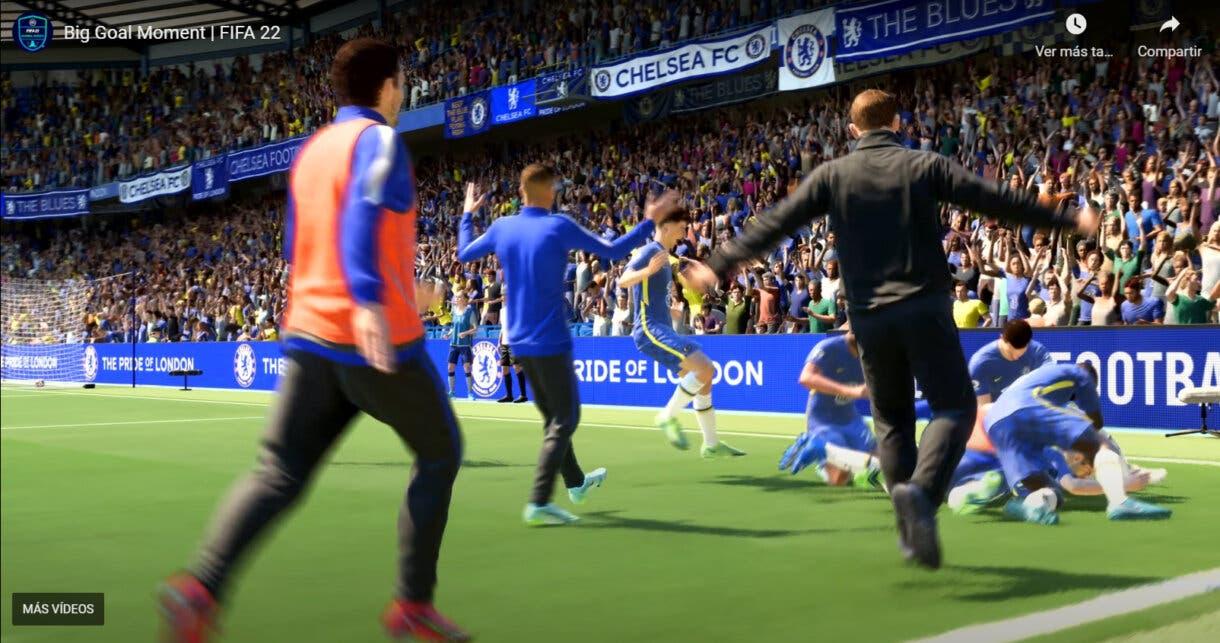 Así se celebra un gol decisivo en FIFA 22