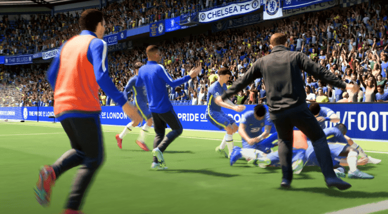 Imagen de Así se celebra un gol decisivo en FIFA 22