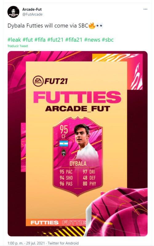 FIFA 21: este popular argentino aparecería como FUTTIES SBC según una reciente filtración Ultimate Team Twitter