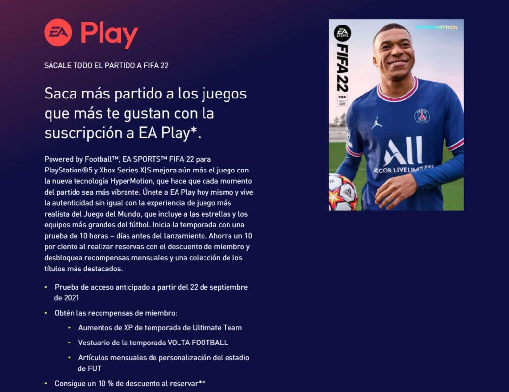 Así puedes jugar a FIFA 22 lo antes posible (fecha de la prueba de acceso anticipado de EA Play) Ultimate Team