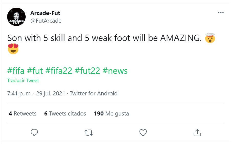 FIFA 22: este jugador se uniría al selecto club de cartas con cinco estrellas de skills y pierna mala Ultimate Team filtración