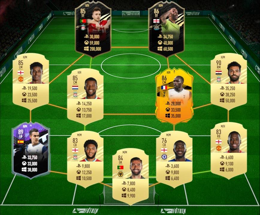 FIFA 21: las mejores plantillas de Premier League, relación calidad/precio, para jugar el próximo FUT Champions Ultimate Team equipo medio low cost precio
