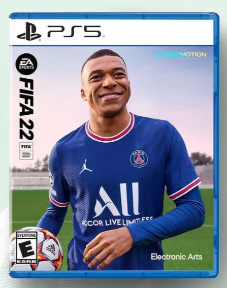 Esta es la portada oficial de FIFA 22. Kylian Mbappé. Edición estándar next gen Ultimate Team EA Sports