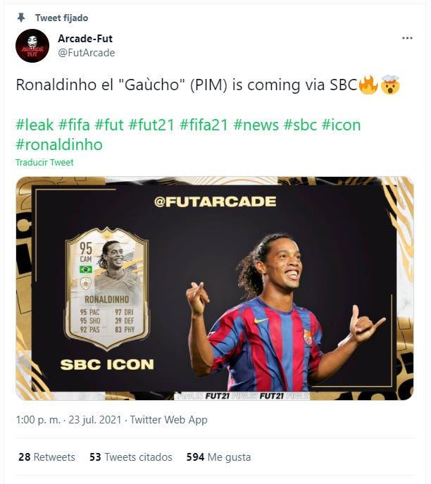 FIFA 21: uno de los mejores Iconos Moments llegaría próximamente como SBC Ronaldinho Moments Ultimate Team