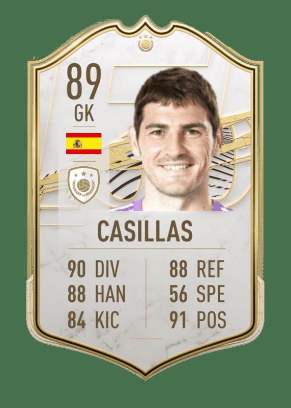 FIFA 22: Estas serían las stats in game de los nuevos Iconos revelados. Ultimate Team Íker Casillas Medio
