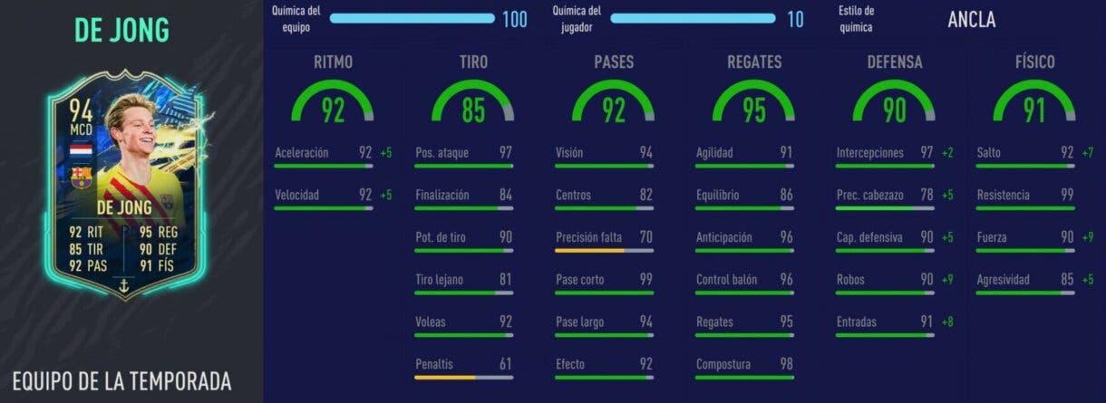 FIFA 21: De Jong TOTS vs Modric Summer Stars. ¿Quién es el mejor MC ofensivo de la Liga Santander? Ultimate Team. Stats in game de  De Jong