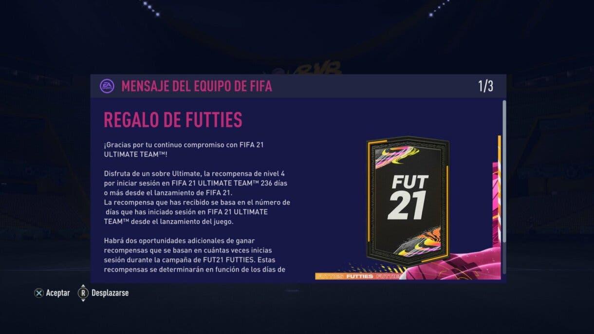 FIFA 21: así podemos conseguir muchos sobres gratuitos durante FUTTIES sobre de regalo.
