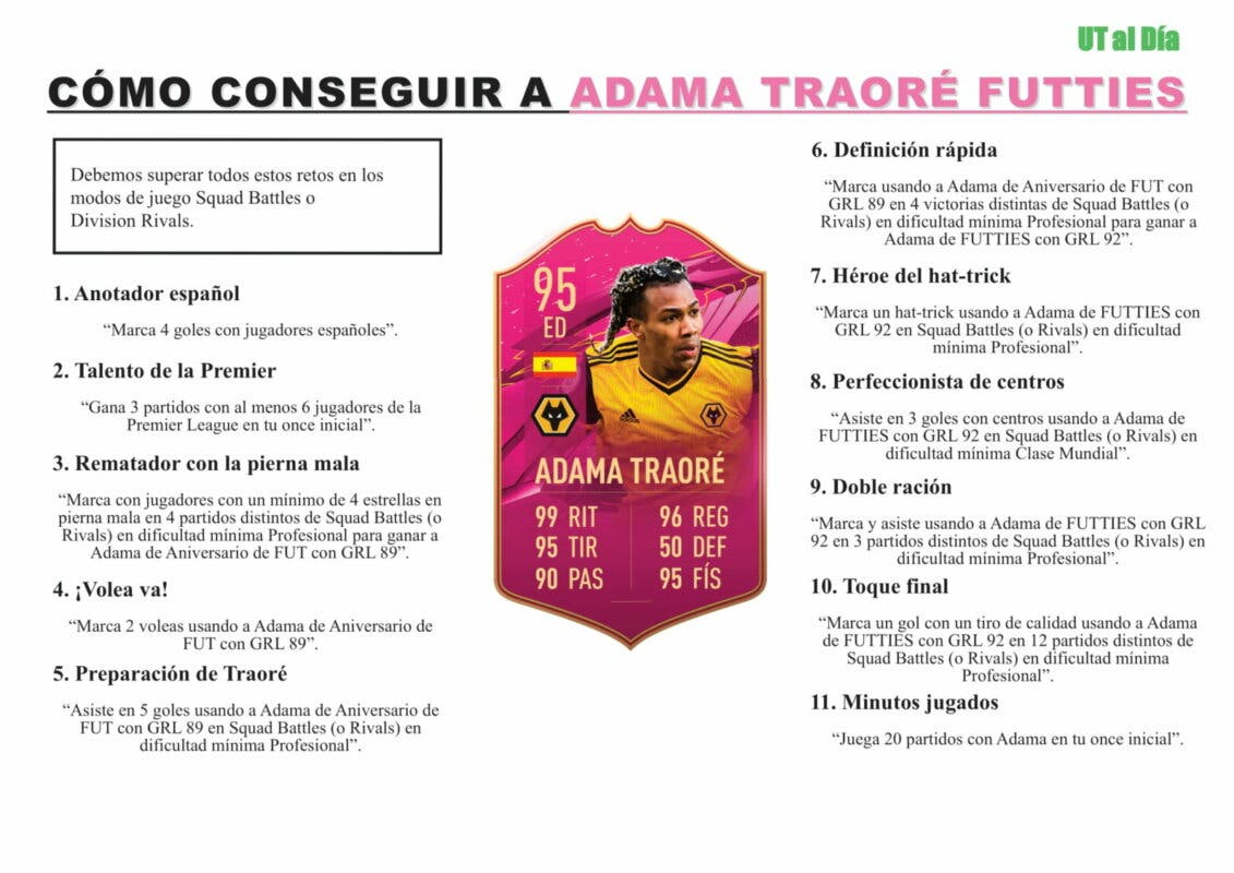 FIFA 21: guía para conseguir a Adama Traoré FUTTIES gratuito Ultimate Team parte 1