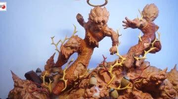 Imagen de Dragon Ball Z: Crean una espectacular figura tallada en madera de la lucha de Goku y Majin Vegeta