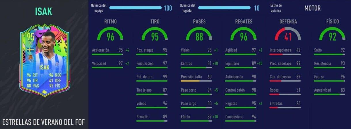FIFA 21: los mejores delanteros de la Liga Santander relación calidad/precio stats in game Isak Summer Stars