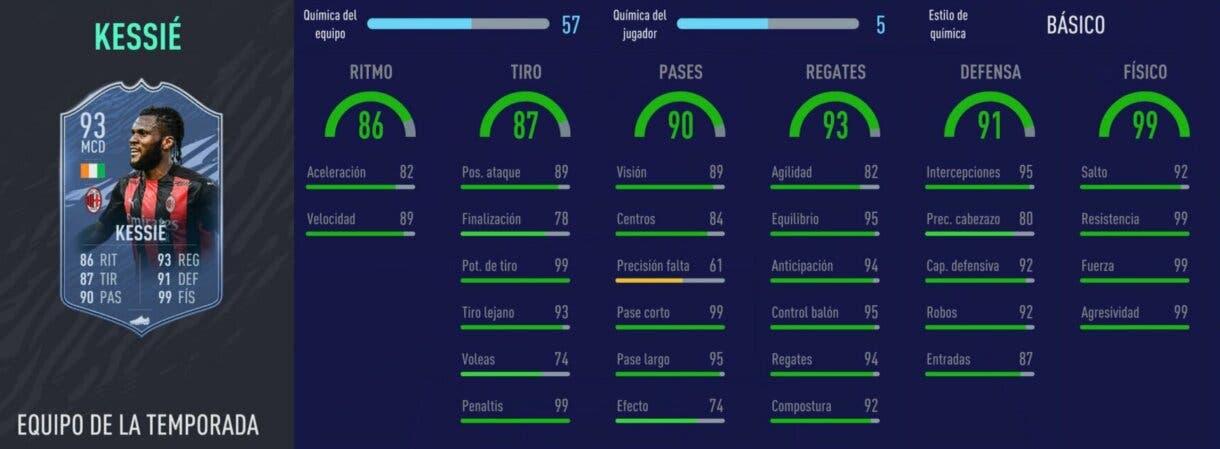 FIFA 21: los mediocentros defensivos más interesantes relación calidad/precio Kessié TOTS