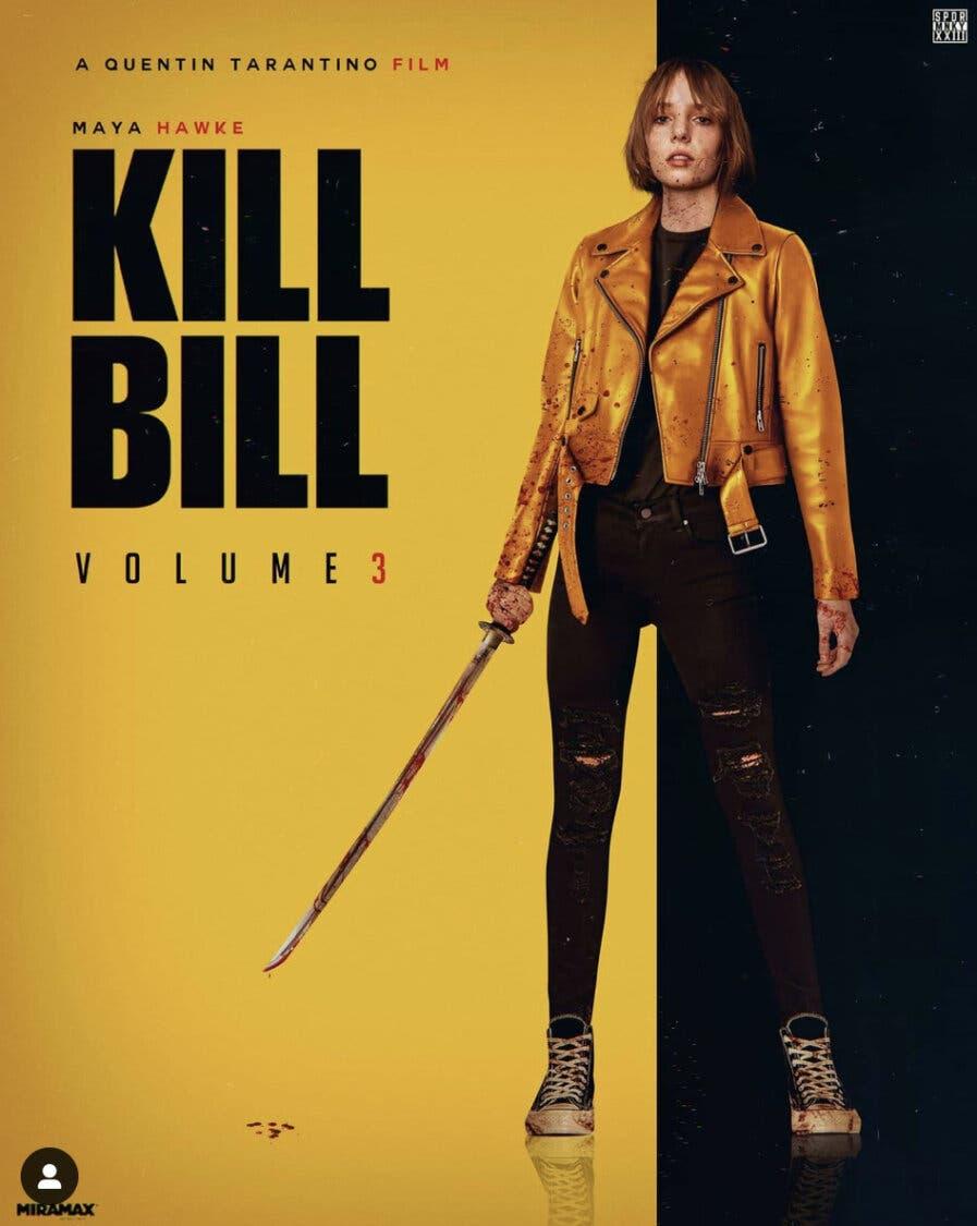 Este fanart muestra como sería Kill Bill 3, si la protagonizara la hija de  Uma Thurman