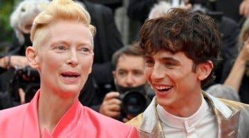 Imagen de La crónica francesa: Tilda Swinton decide bromear a su compañero de reparto en pleno Festival de Cannes