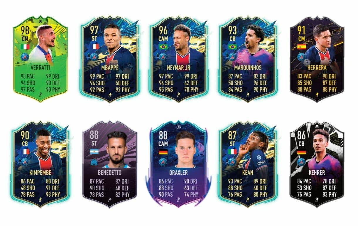 Links verdes Di María Summer Stars. FIFA 21 Ultimate Team