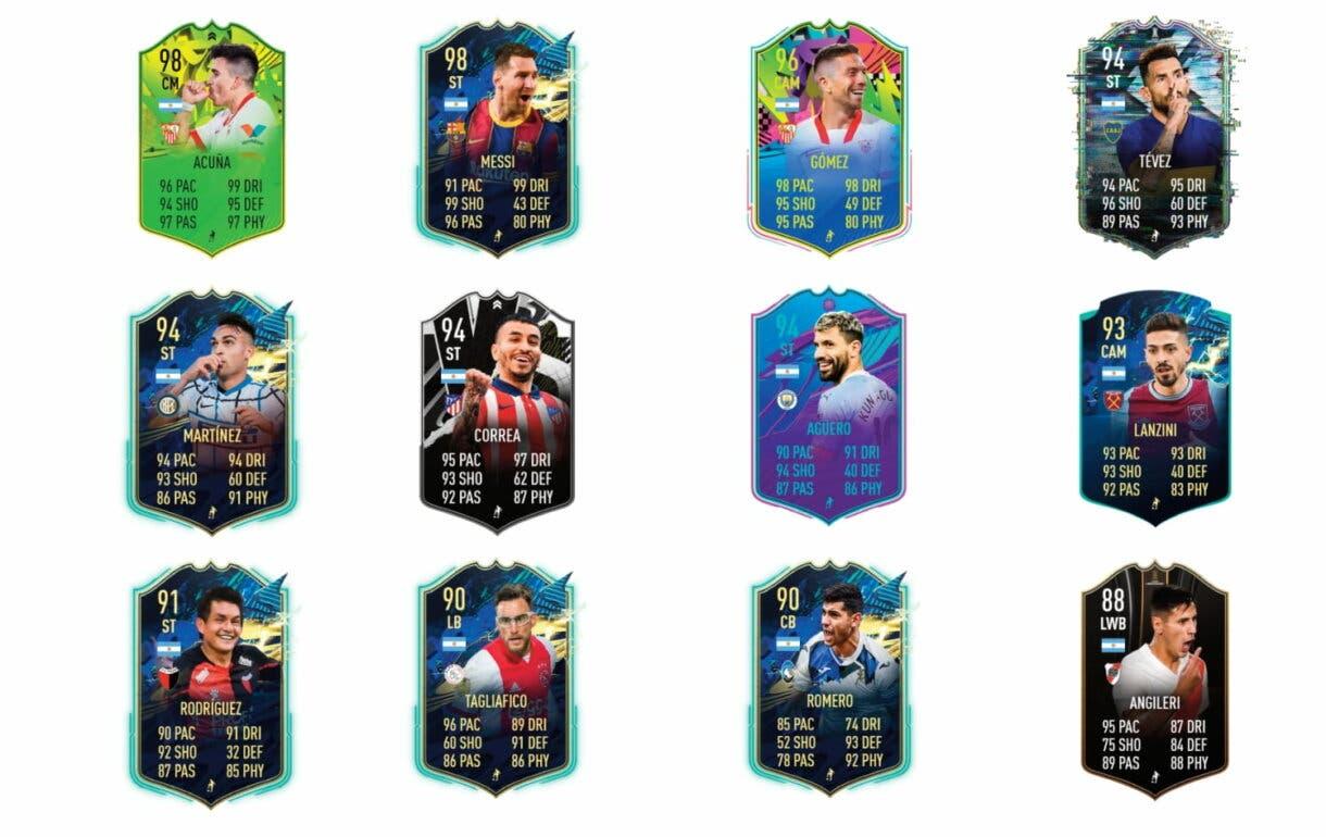 Links naranjas Di María Summer Stars. FIFA 21 Ultimate Team