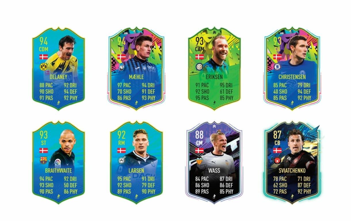 Links naranjas de Dolberg Summer Stars. FIFA 21 Ultimate Team