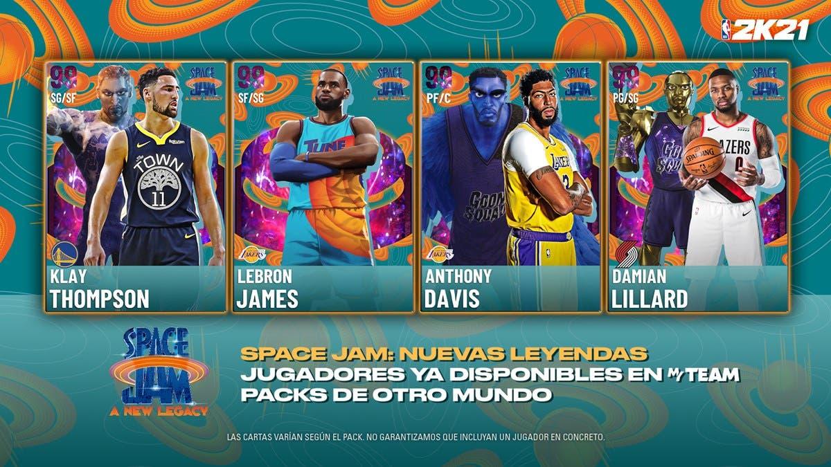 NBA 2K21 Mi Equipo MyTeam Temporada 9 Space Jam Nuevas Leyendas