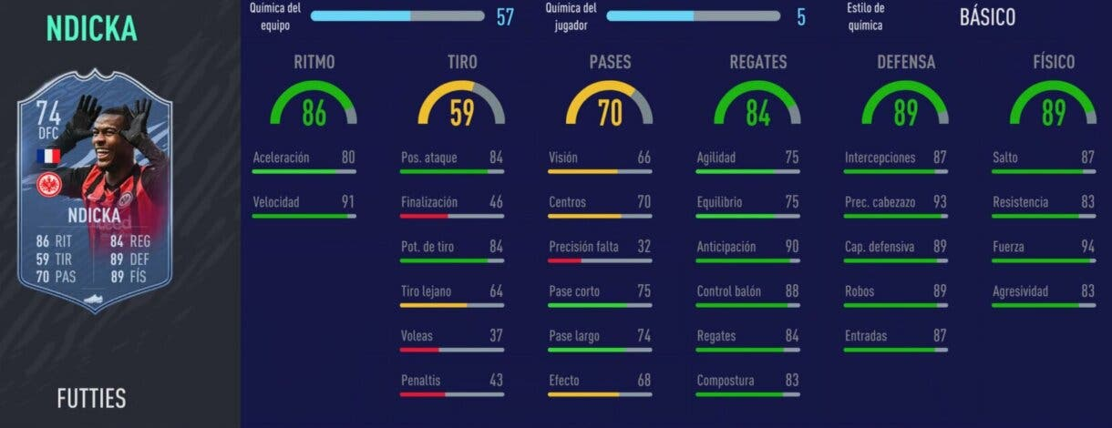 Stats in game de N´Dicka FUTTIES gratuito. FIFA 21: el nuevo free to play de plata es increíblemente bueno