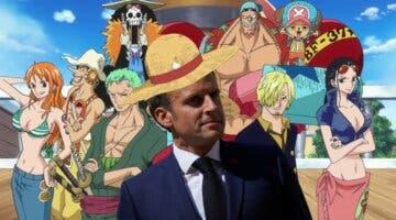 Imagen de El presidente de Francia comparte un cuadro único y exclusivo de One Piece