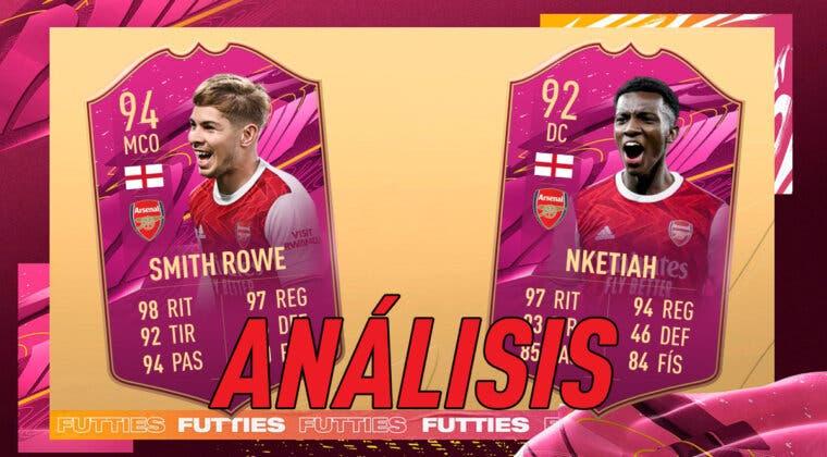 Imagen de FIFA 21: análisis de Nketiah y Smith-Rowe FUTTIES dúo dinámico gratuito. ¿Atacantes top de la Premier League?