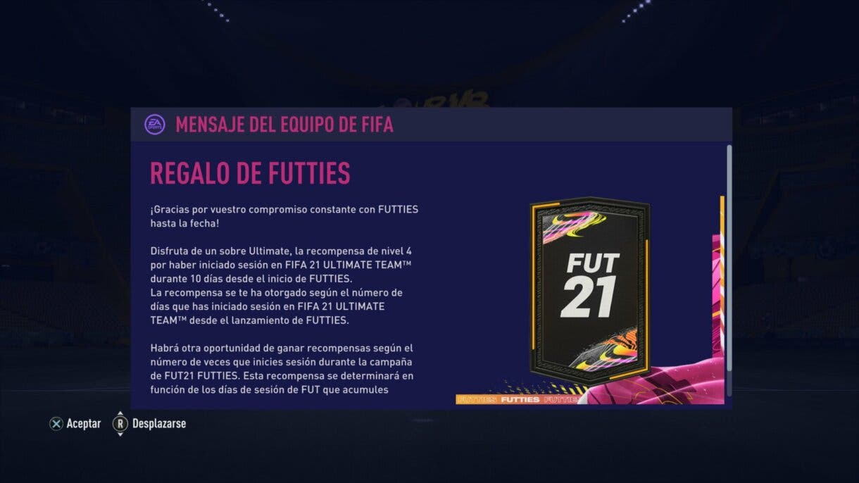 FIFA 21: reclama tu sobre gratuito y así podrás recibir otro próximamente Ultimate Team