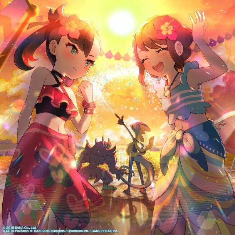 Roxy y Gloria arte Pokemon Masters EX