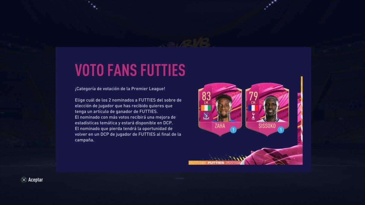 FIFA 21 Ultimate Team nueva votación FUTTIES Sissoko y Zaha