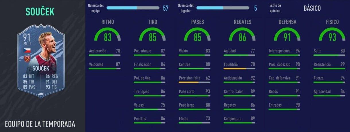 FIFA 21: los mediocentros defensivos más interesantes relación calidad/precio Soucek TOTS