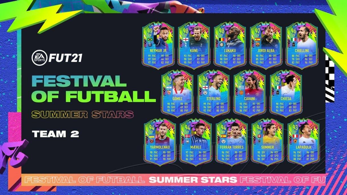 FIFA 21 Ultimate Team Summer Stars segundo equipo