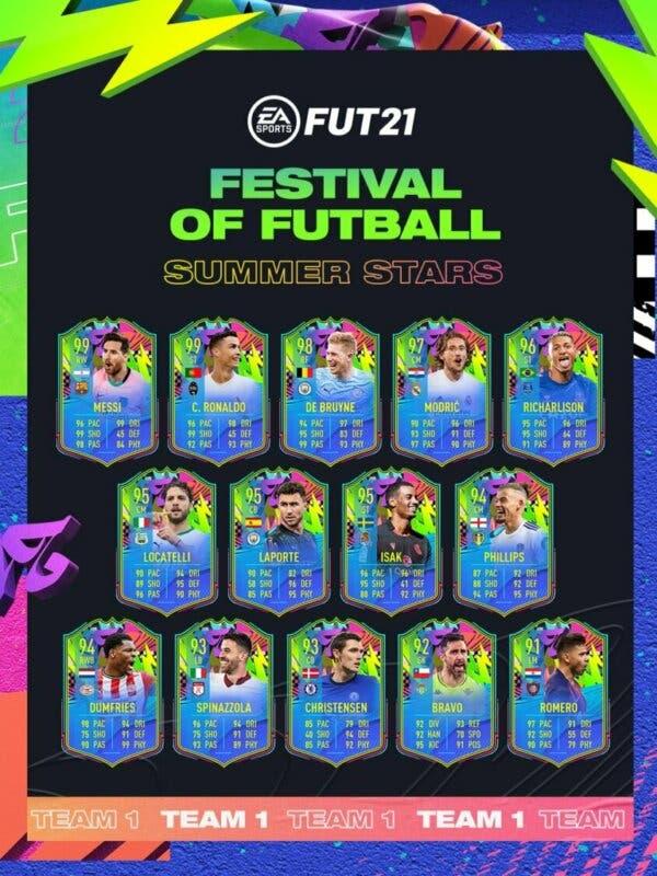 FIFA 21 Ultimate Team Summer Stars Estrella Verano equipo transferible